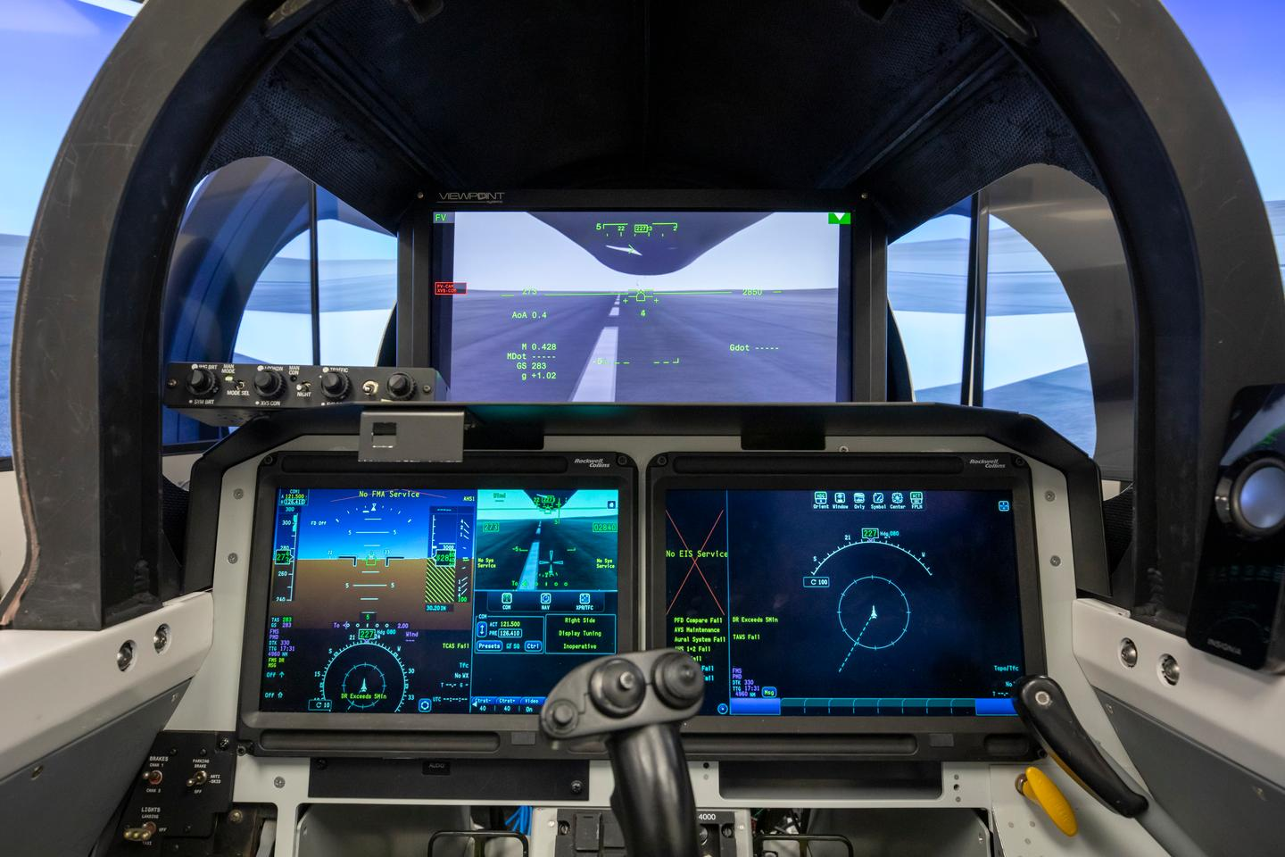 Rendering of the X-59 cockpit with the XVS