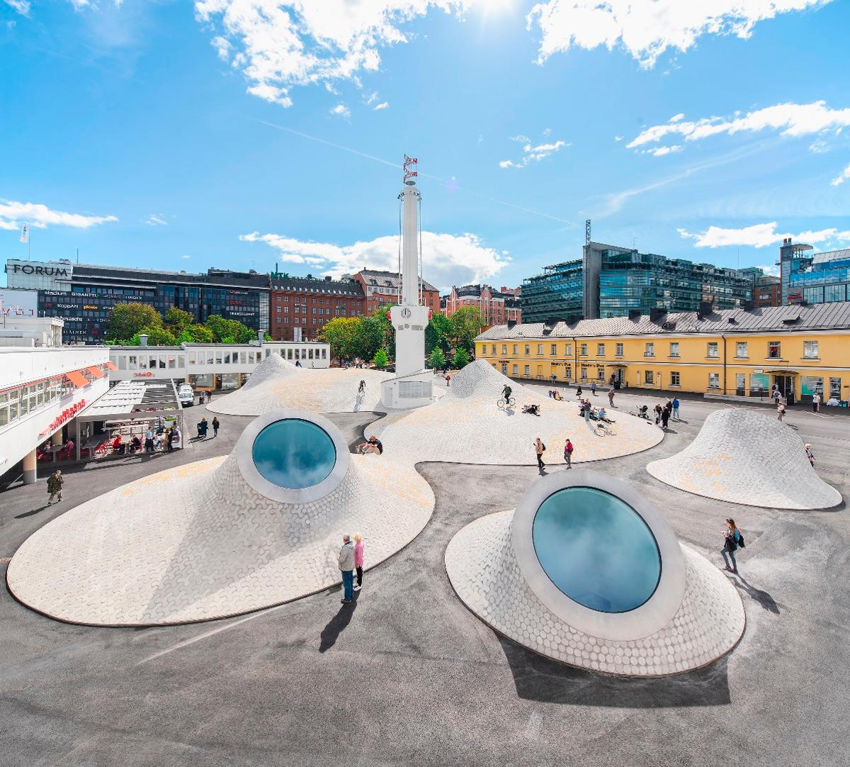 Helsinki's Amos Rex contemporary art museum, by JKMM, is one of the 534 projects shortlisted in this year's World Architecture Festival