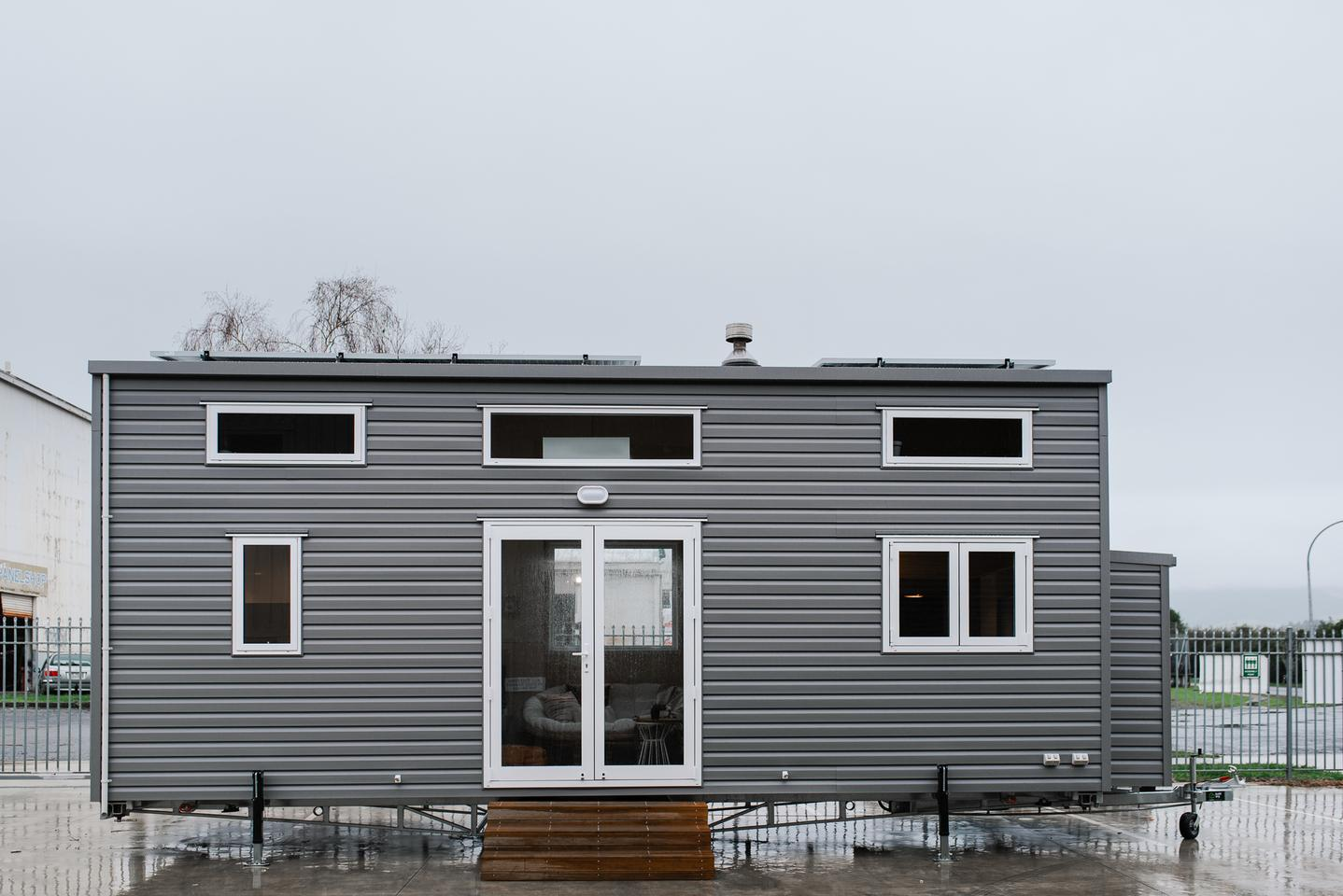 The Kahurangi Koinga Tiny House is based on a double-axle trailer