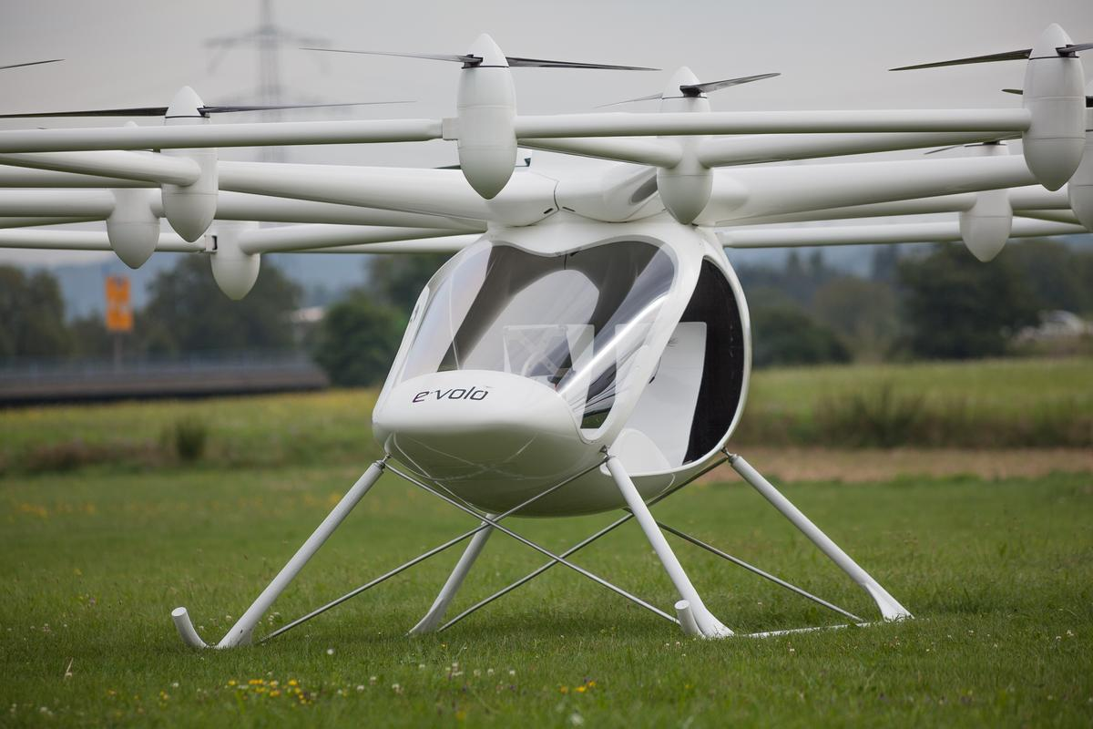 The VC200 is the latest in e-volo's development of an electric multicopter