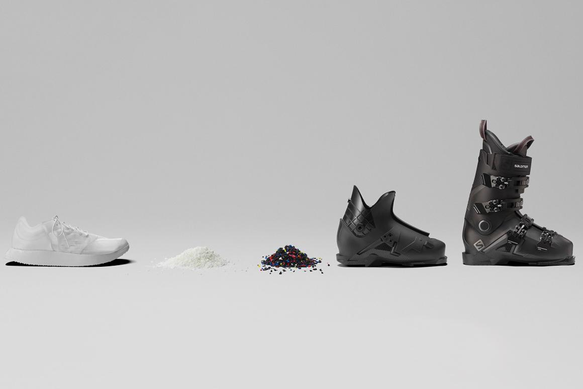 Salomon's recyclable running shoe is made using using 100 percent thermoplastic polyurethane