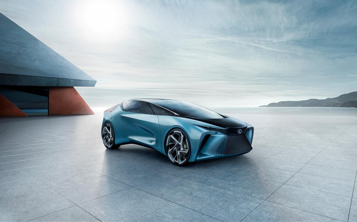 In addition to the spindle, Lexus designers were inspired by the idea of electric drive power bursting forward