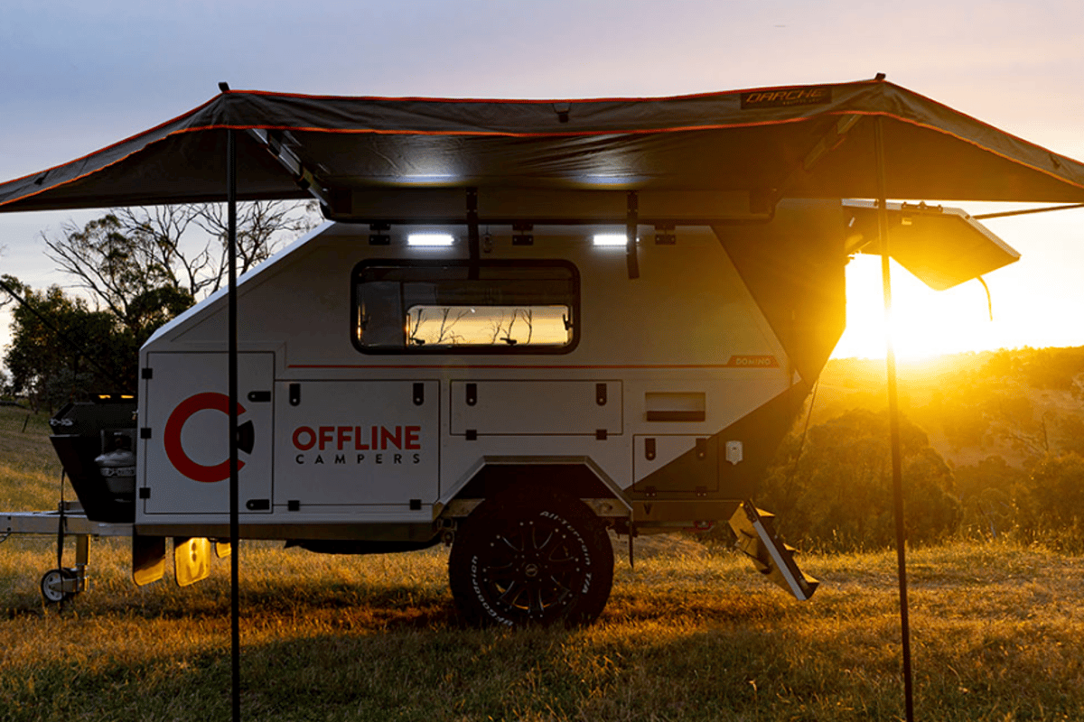 The Offline Domino trailer will be on show this weekend at the Brisbane 4x4 show