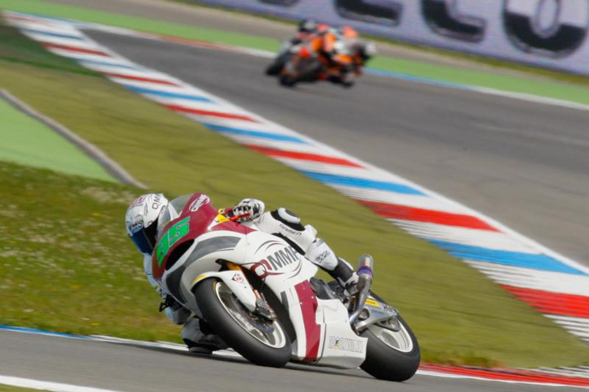 Ant West racing in Moto2 at Assen 2012