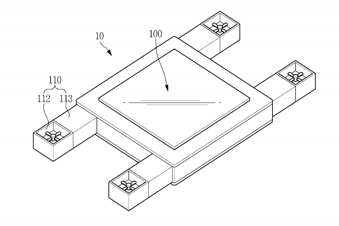 """Samsung has been granted a patent for a """"flying display device"""""""
