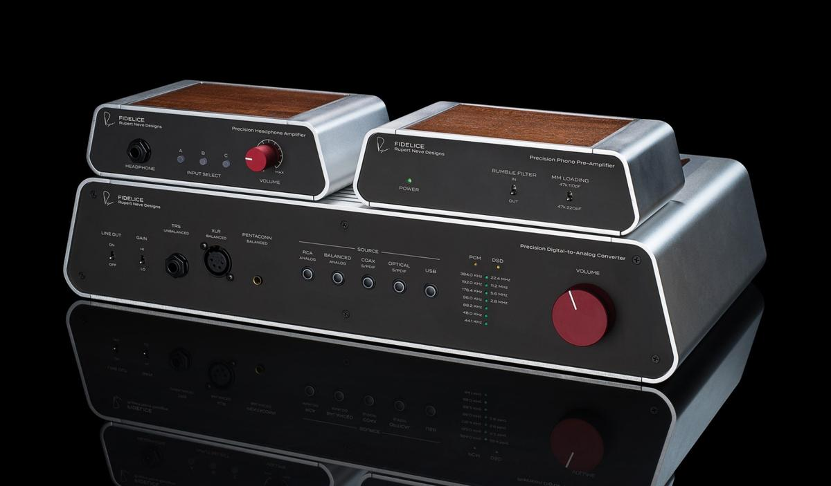 The Fidelice Precision audio range has been created by Rupert Neve Designs