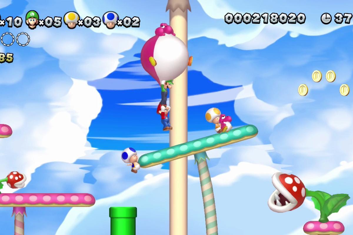 The game features plenty of perilous platforms