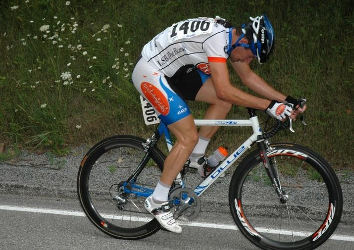 Hindsight designer Evan Solida, when he still raced road bikes