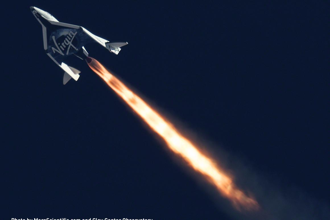 SpaceShipTwo will carry 12 NASA experiments (Image: Mars Scientific/Clay Center Observatory)