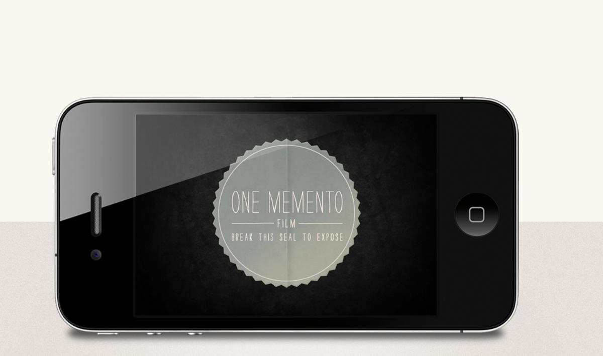One Memento is part-camera app and part-digital photography experiment