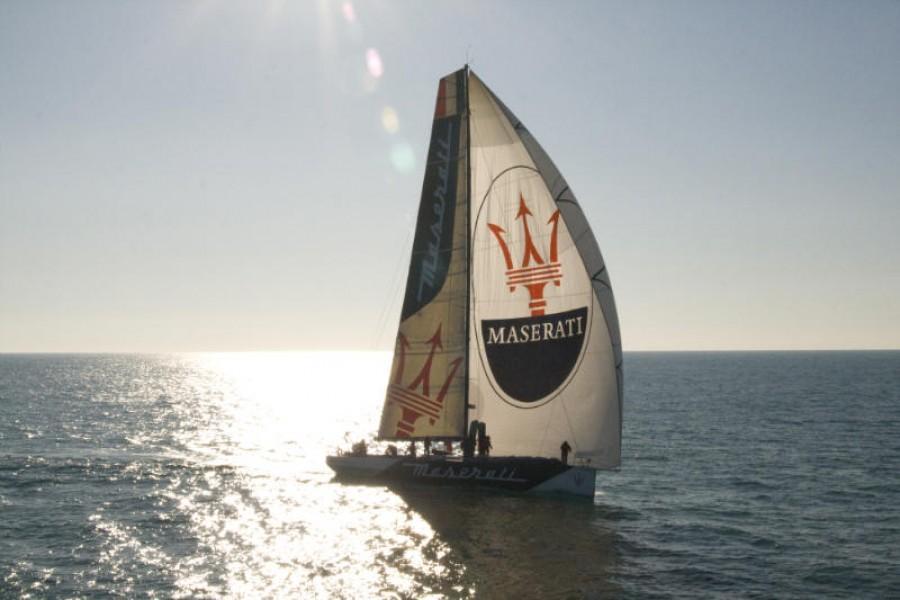 The Maserati VOR70 mono-hull racing yacht