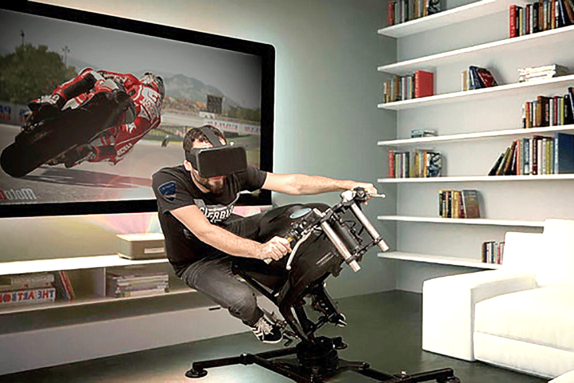LeanGP offers home gamers a motorcycle simulator with lean-to-steer capability –and potentially wheelies