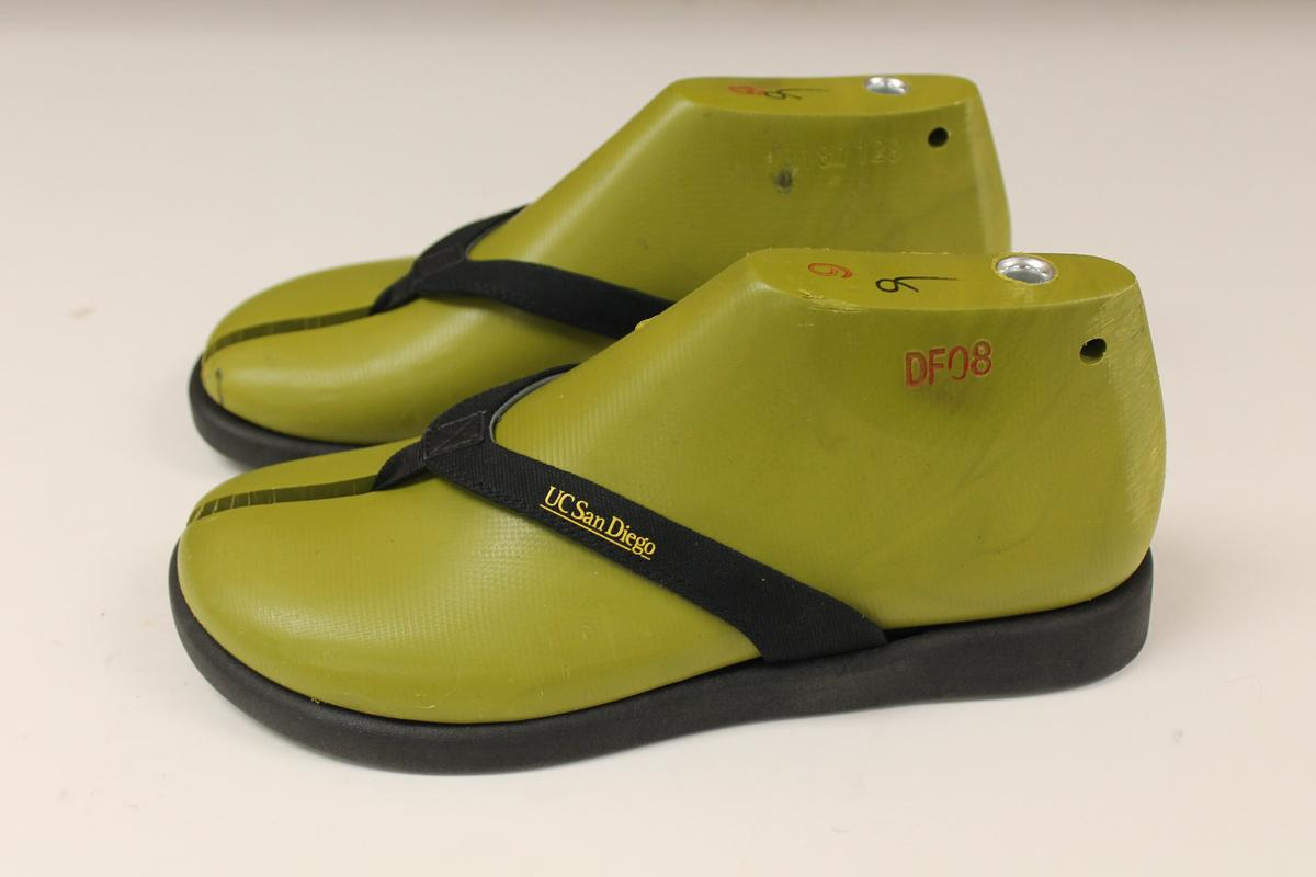 Scientists at University of California San Diego have used algae oil to produce biodegradable flip flops