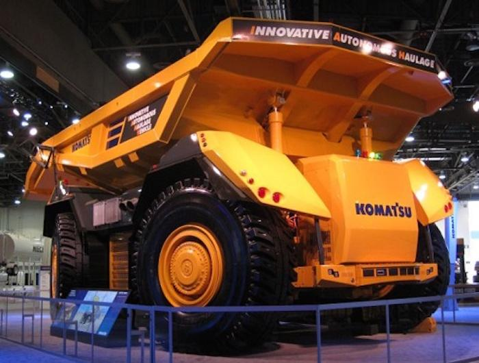 Komatsu is unveiling its Innovative Autonomous Haulage Vehicle at Minexpo International in Las Vegas this week