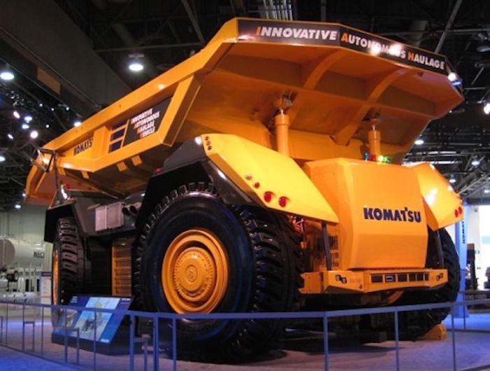 Komatsu is unveiling itsInnovative Autonomous Haulage Vehicle at Minexpo International in Las Vegas this week