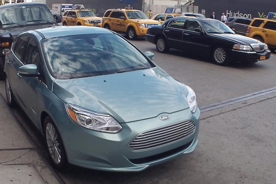Ford Focus Electric in New York's Chelsea neighborhood