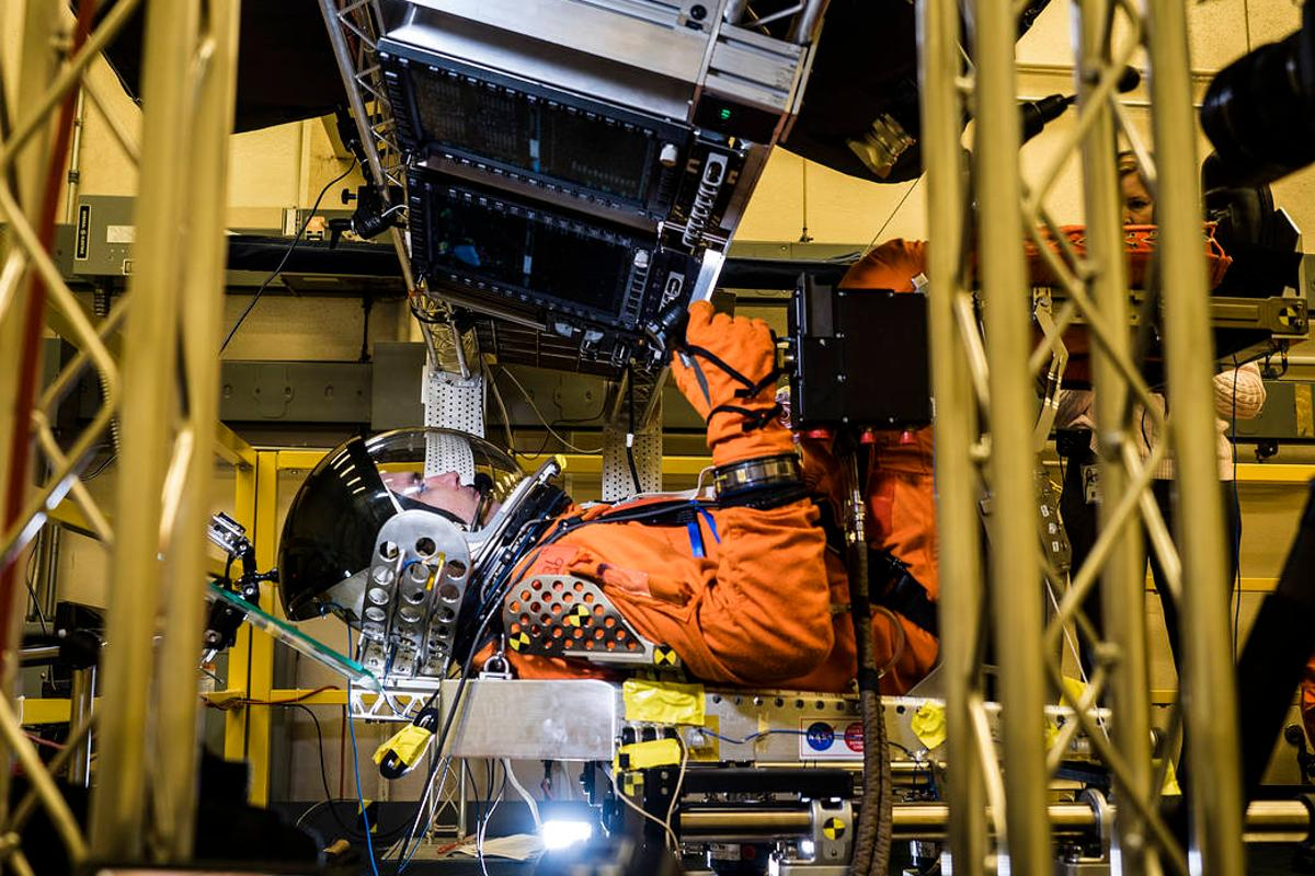 NASA is conducting vibration tests on Orion's displays and a new couch system