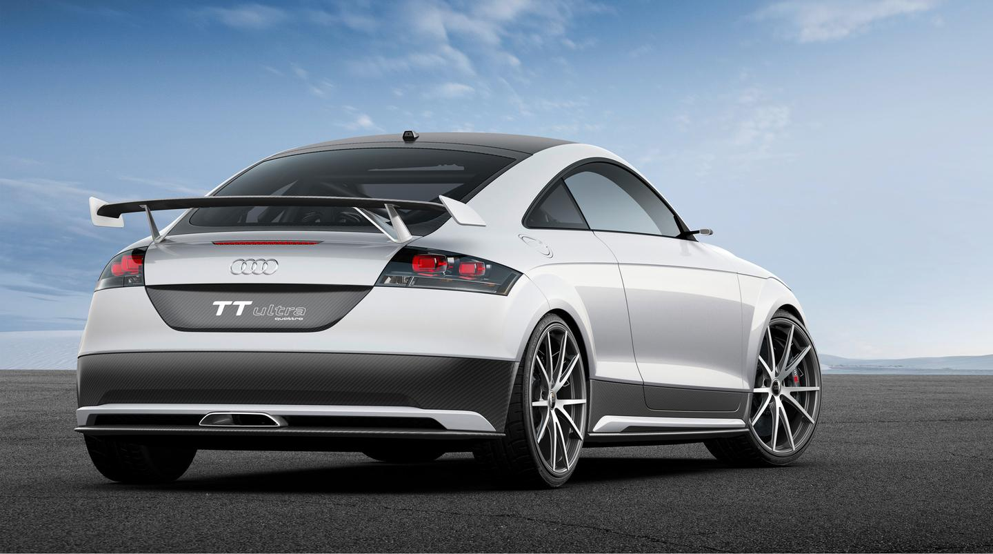 300 kg were cut from the TT Ultra Concept using advanced light-weight materials, engine modifications and body panel revisions