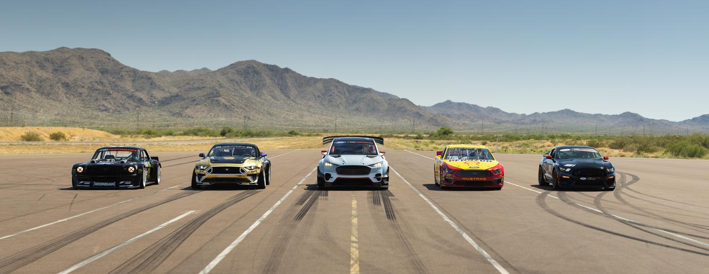The Mustang Mach-E 1400 lines up with some other no-nonsense Mustang creations