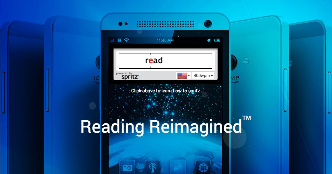 According to Boston-based startup Spritz, you spend as little as 20 percent of your reading time actually taking in the words you're looking at