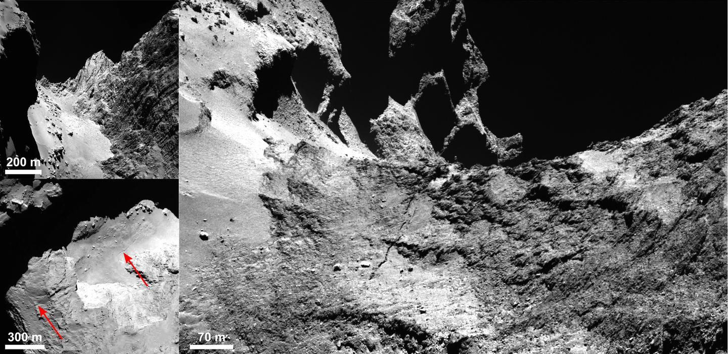 A crack in the comet (Image: ESA/Rosetta/MPS for OSIRIS Team MPS/UPD/LAM/IAA/SSO/INTA/UPM/DASP/IDA)