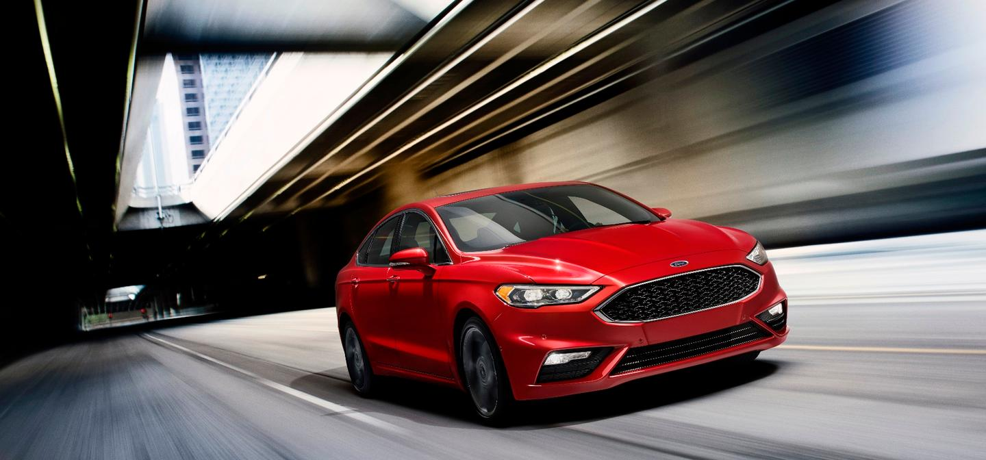 The engine lineup for the new 2017 Ford Fusion includes three EcoBoost engine options, including a new twin-turbocharged four-cylinder for the new Fusion V6 Sport model