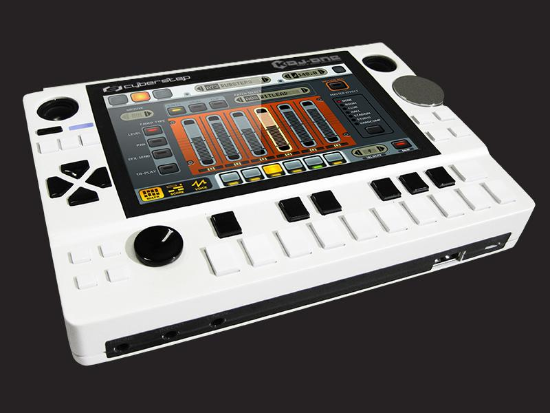 16 velocity sensitive keypads feature, with a joystick and tap tempo button to either side