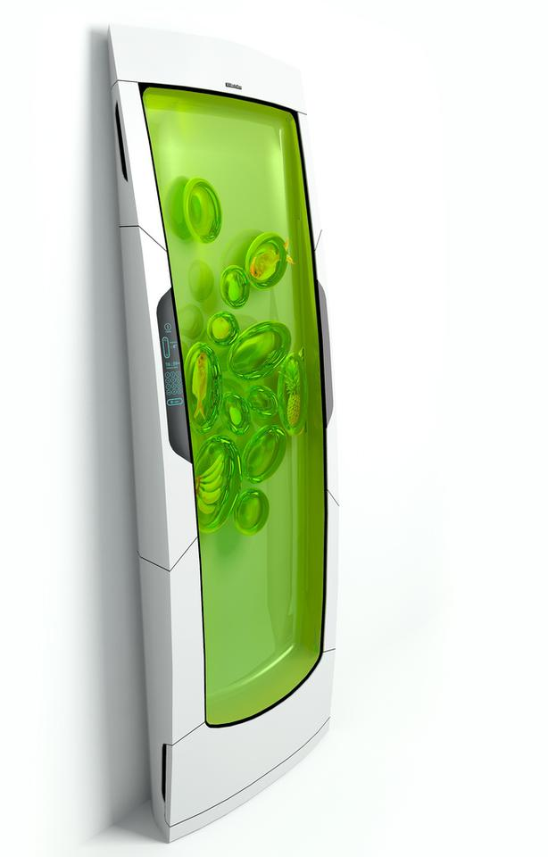 If you want something from the Bio Robot Fridge, just stick your hand into the biopolymer gel and grab it