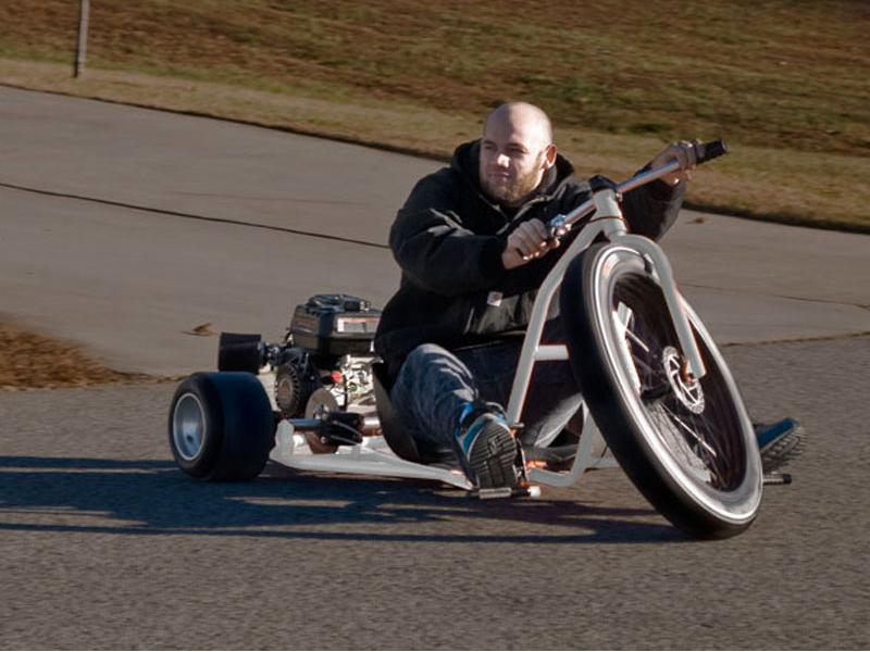 Another point of difference for the Big Wheel Drift Trike is the resting place for the rider's feet