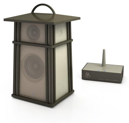Audiovox has released a new range of digital speakers that can also light up your outdoor living area