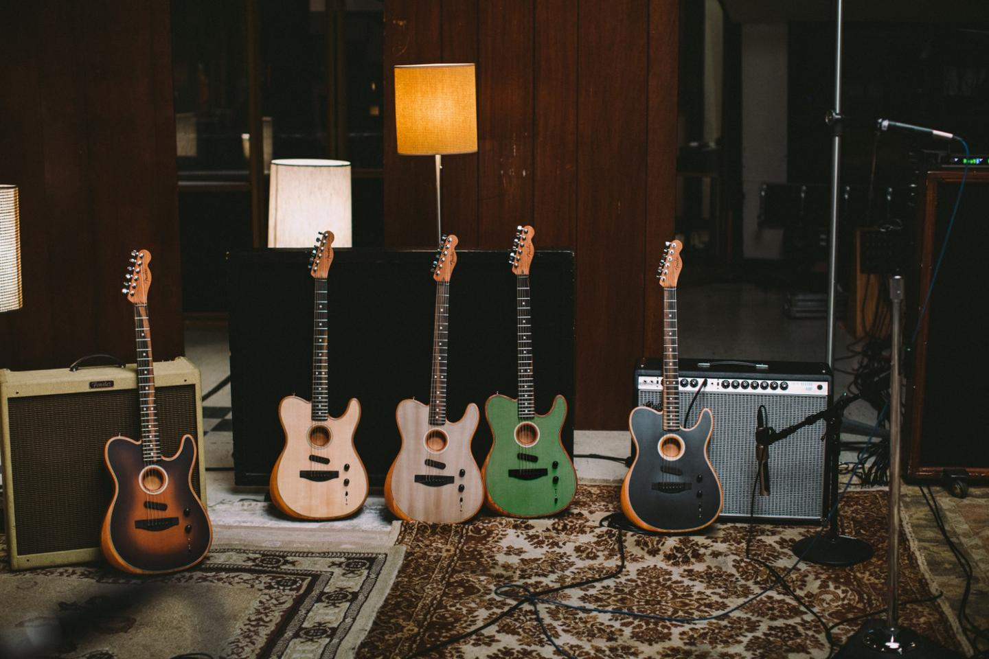 Players can swap between acoustic and electric tones, or create something inbetween, with the American Acoustsonic Telecaster