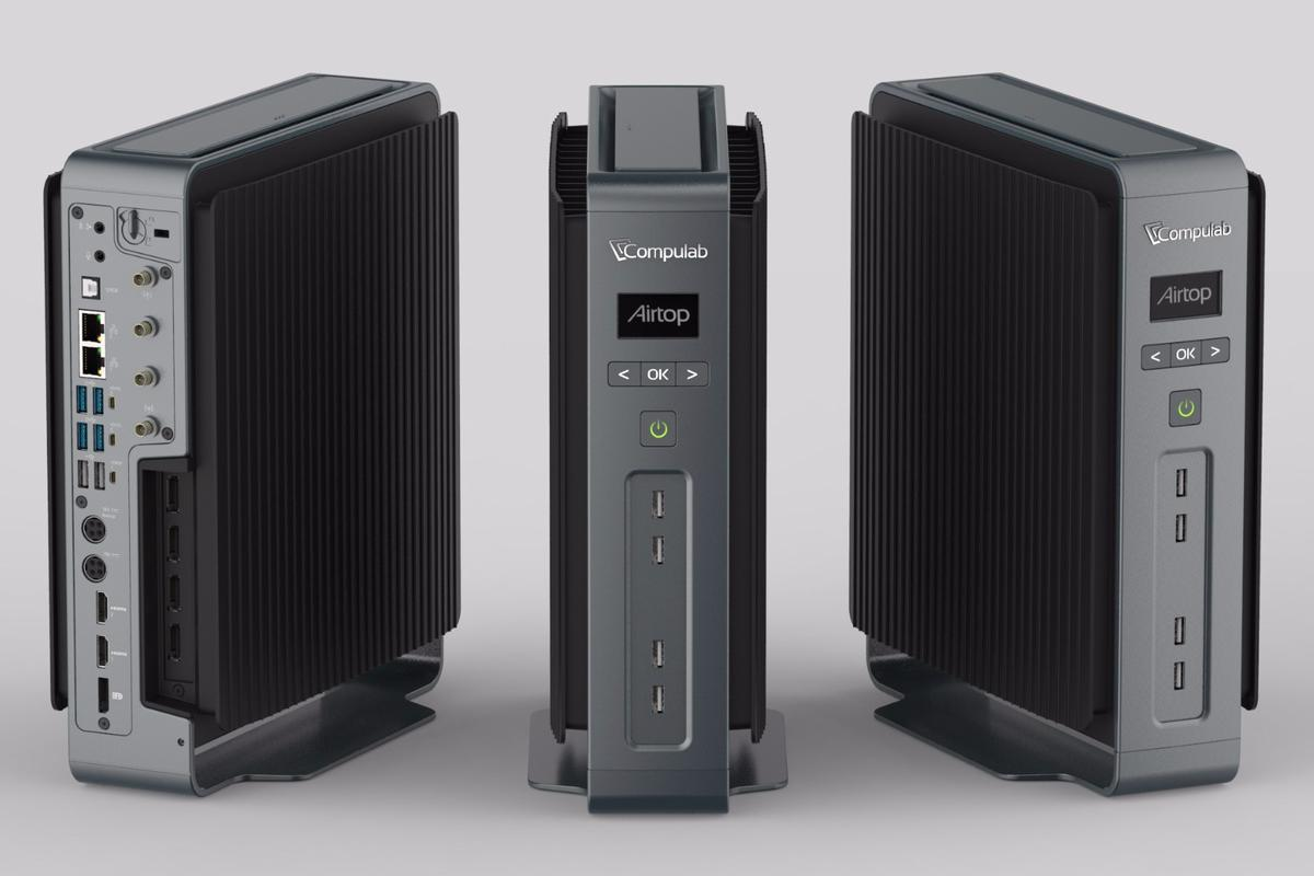 The Airtop desktop PC can be fitted with an Intel Core i7 processor and dedicated graphics solutions