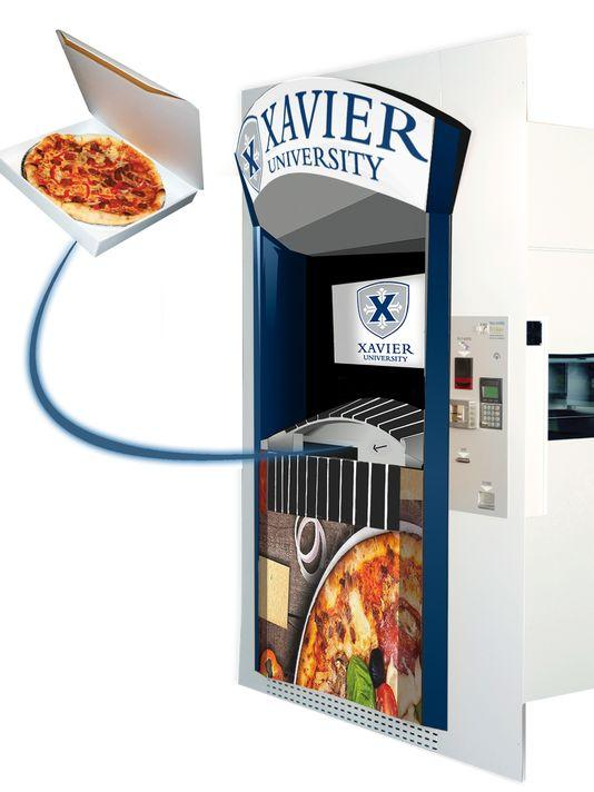 The Pizza ATM at Xavier University dispenses 12-inch pies in 3 minutes