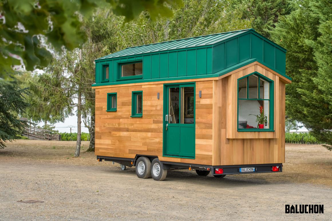 The Hauméa tiny house measures 6 m (19.6 ft) long and gets power from a standard RV-style hookup