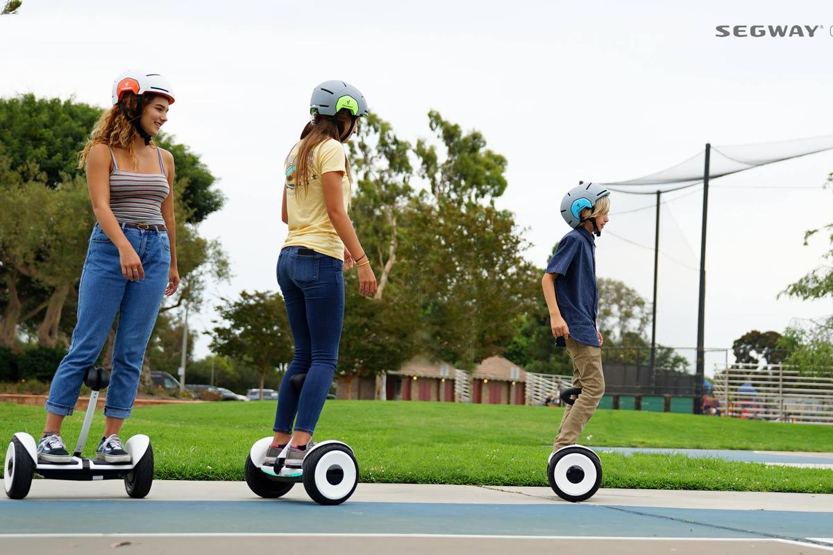 The Segway miniLITE targeted at children over six years is one of the new products announced at a launch event in Seoul