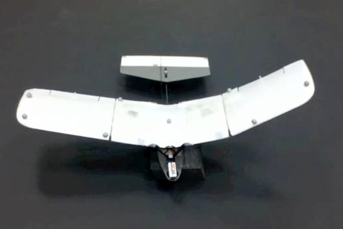 The Urbana-Champaign MAV features articulated wings with movable trailing edge flaps