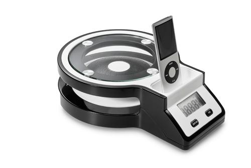 The Rihanna kitchen scales with built-in iPod dock