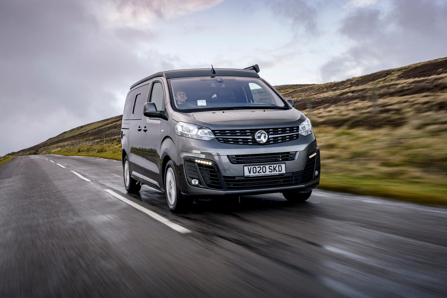 The Vauxhall Vivaro Elite Campervan will eventually be available with option of 2.0-liter diesel engine or electric drive