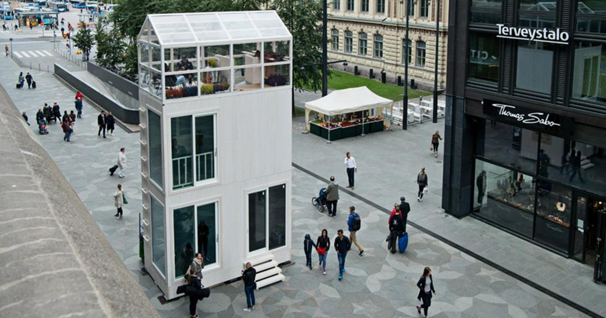 Parking space-sized micro-house is made for city life