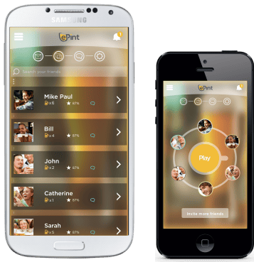 The ePint Smart Beer Mug features a companion app (iOS and Android) for team selection, pairing, and more