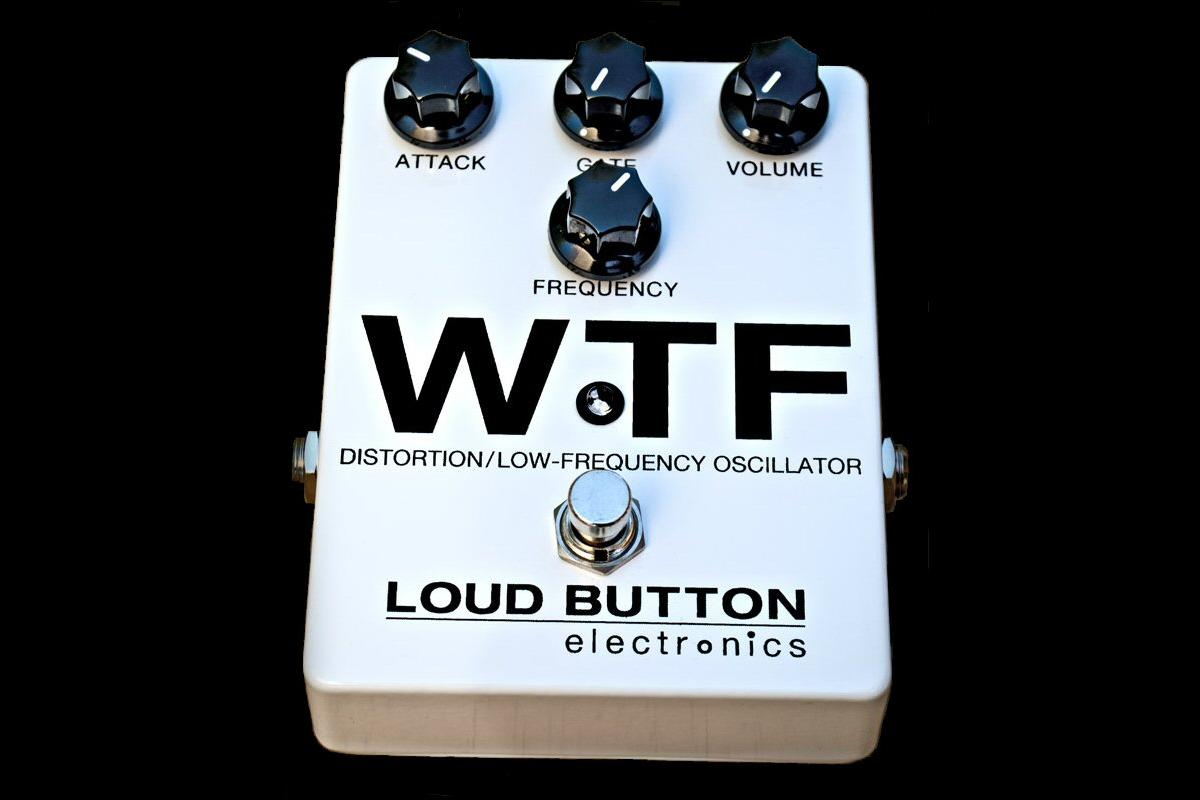 The aptly-named WTF effect pedal from Loud Button Electronics essentially mixes synth tones with guitar distortion effects with powerful results