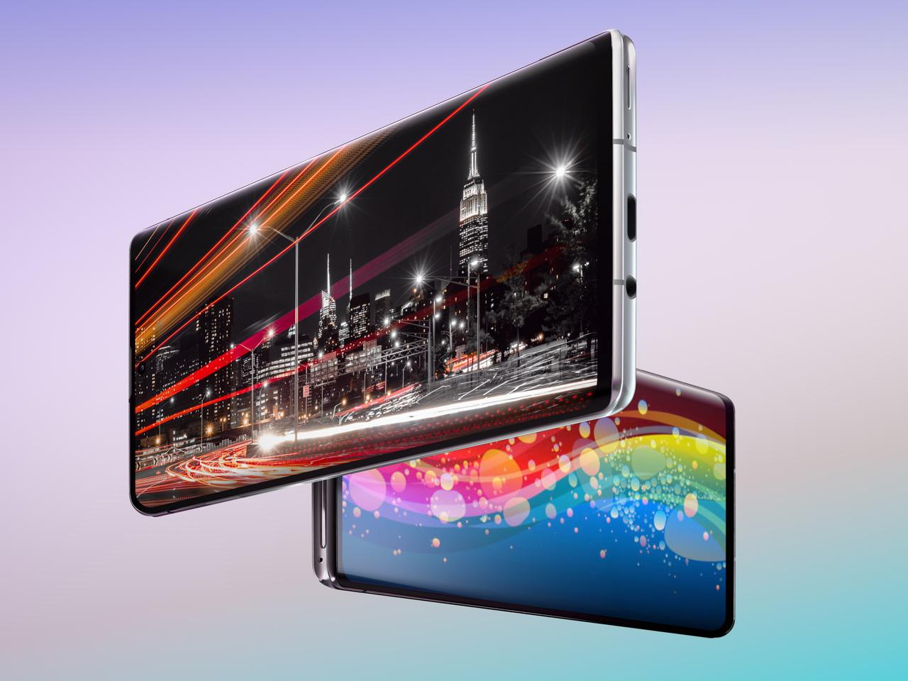 The Aquos R6 features a 240-Hz WUXGA OLED display, with 20 million:1 contrast and 2,000-nits brightness