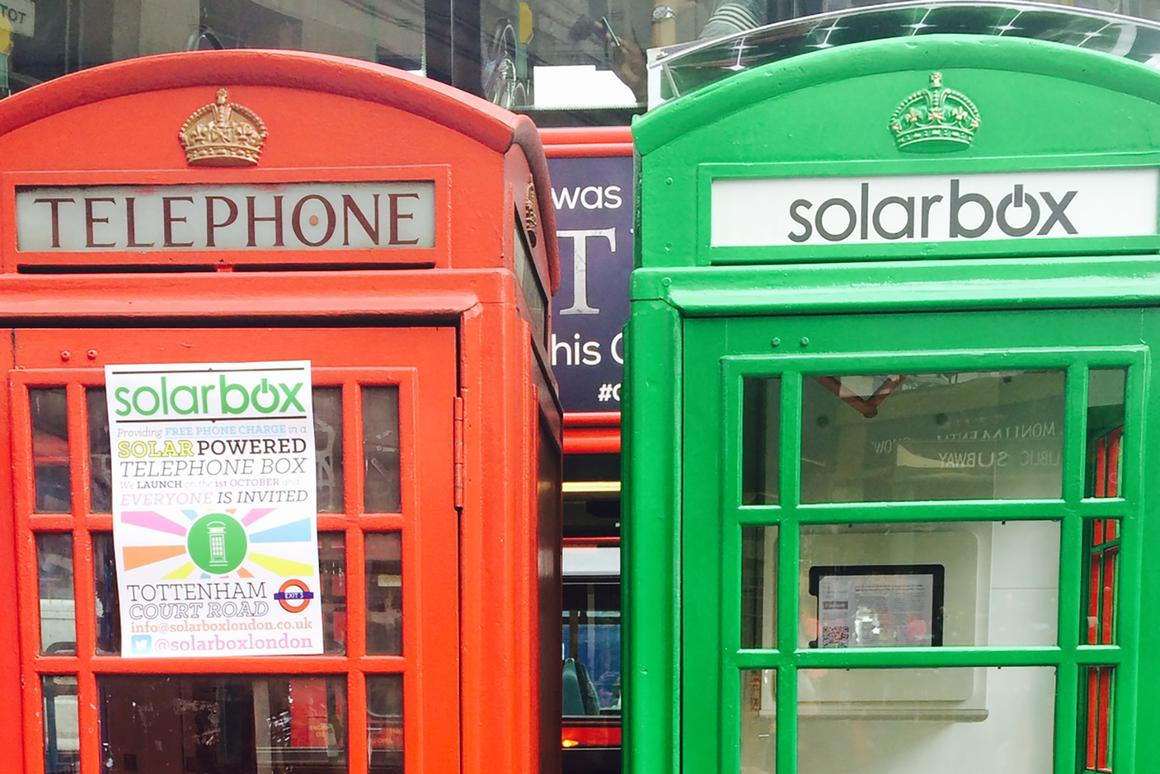 Solarbox aims to provides a quick and free smartphone battery top up