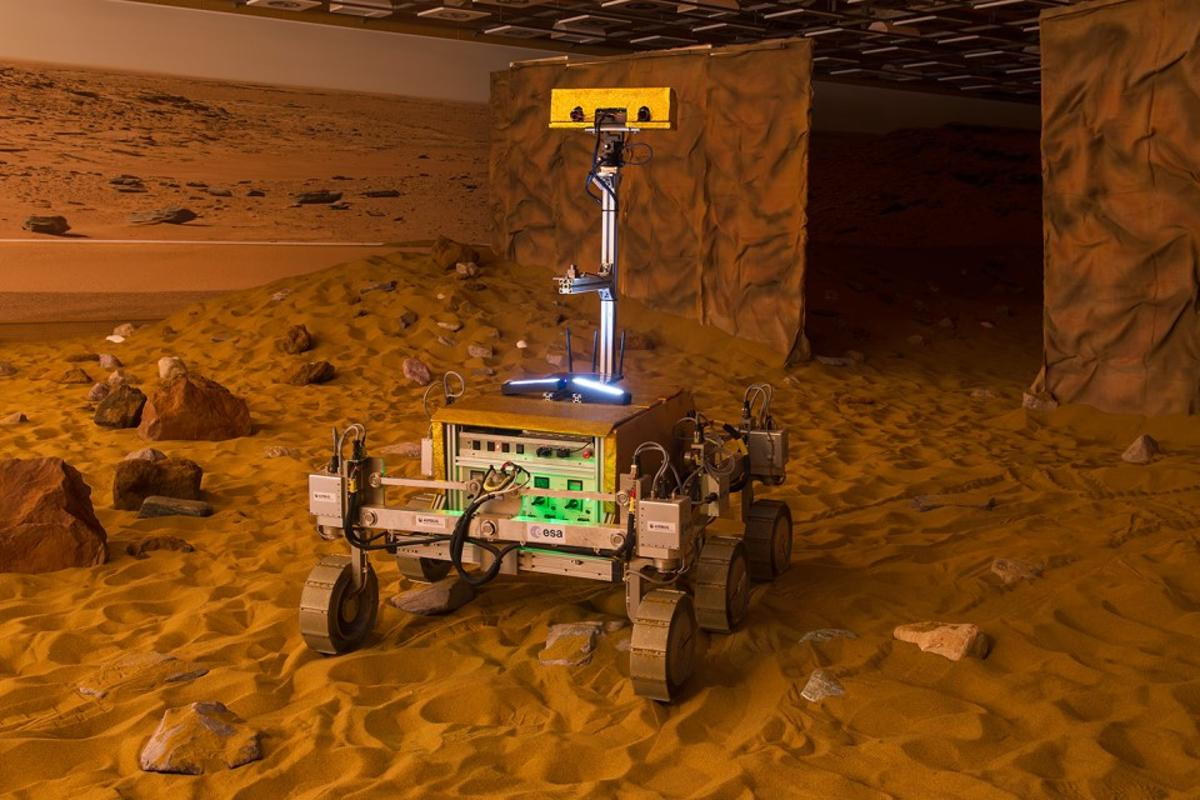 Bridget, the UK built Mars rover that Tim Peake controlled from space