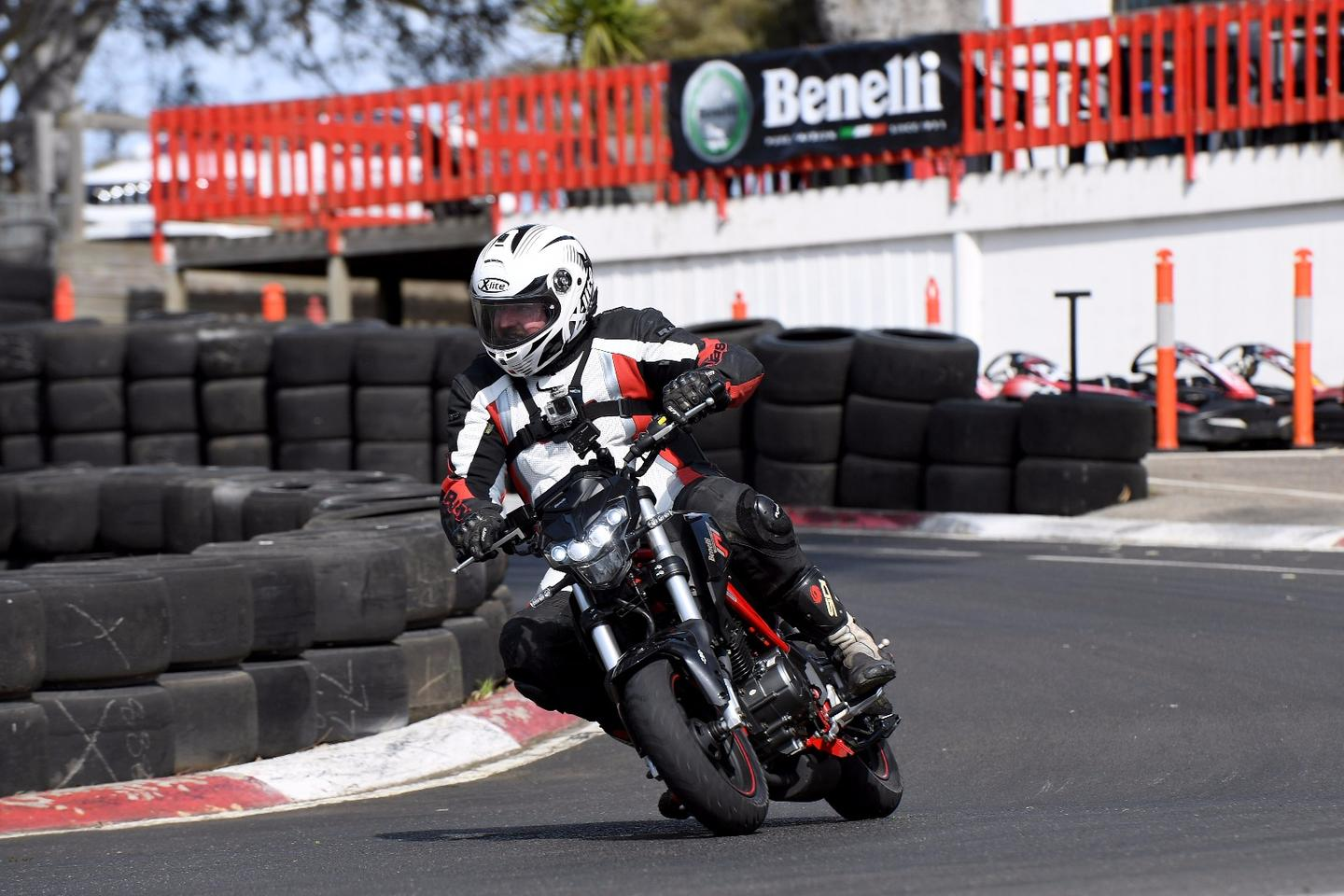 Benelli TnT125: wicked fun on a g-kart track