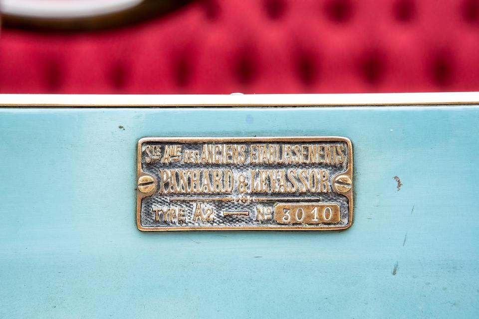 The Panhard 1901 7hp registration plate