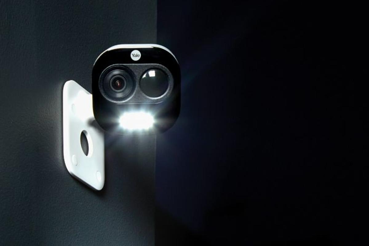Yale's All-in-One camera is IP65-certified for outdoor use, features a night vision mode and comes with a built-in spotlight