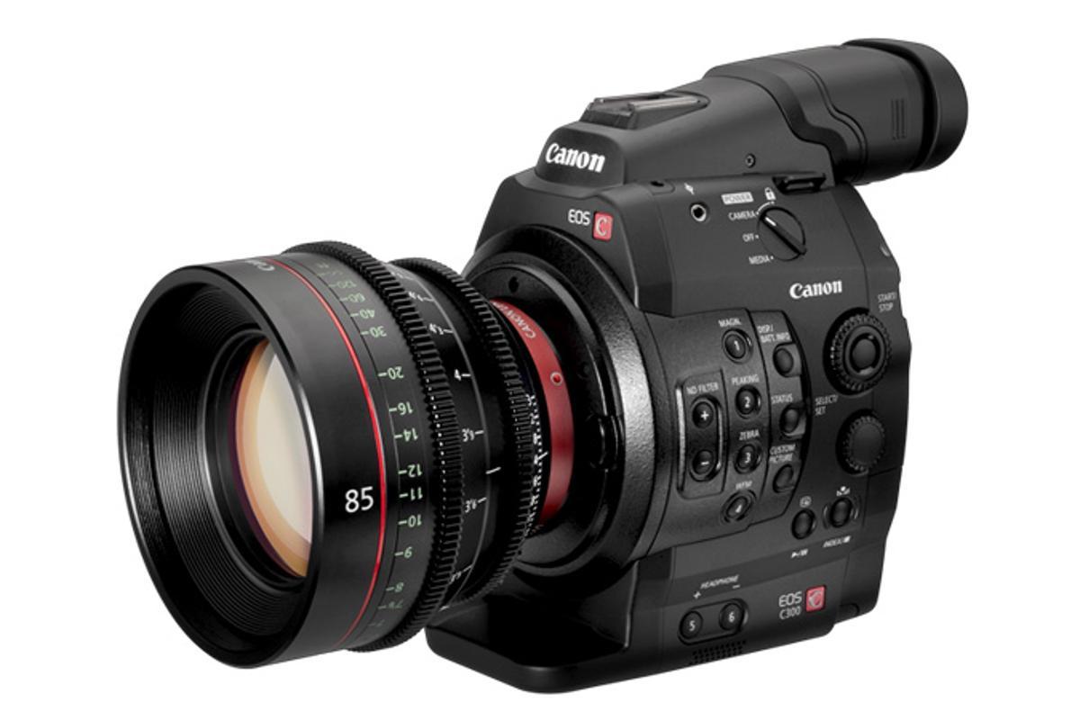 Canon's new EOS C300 digital cinema camera and prime lens