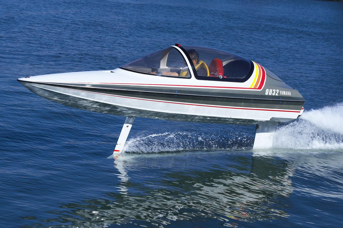 When a team of Yamaha engineers found this 1988 hydrofoil prototype in the back of a warehouse, they couldn't resist restoring it and taking it for a spin