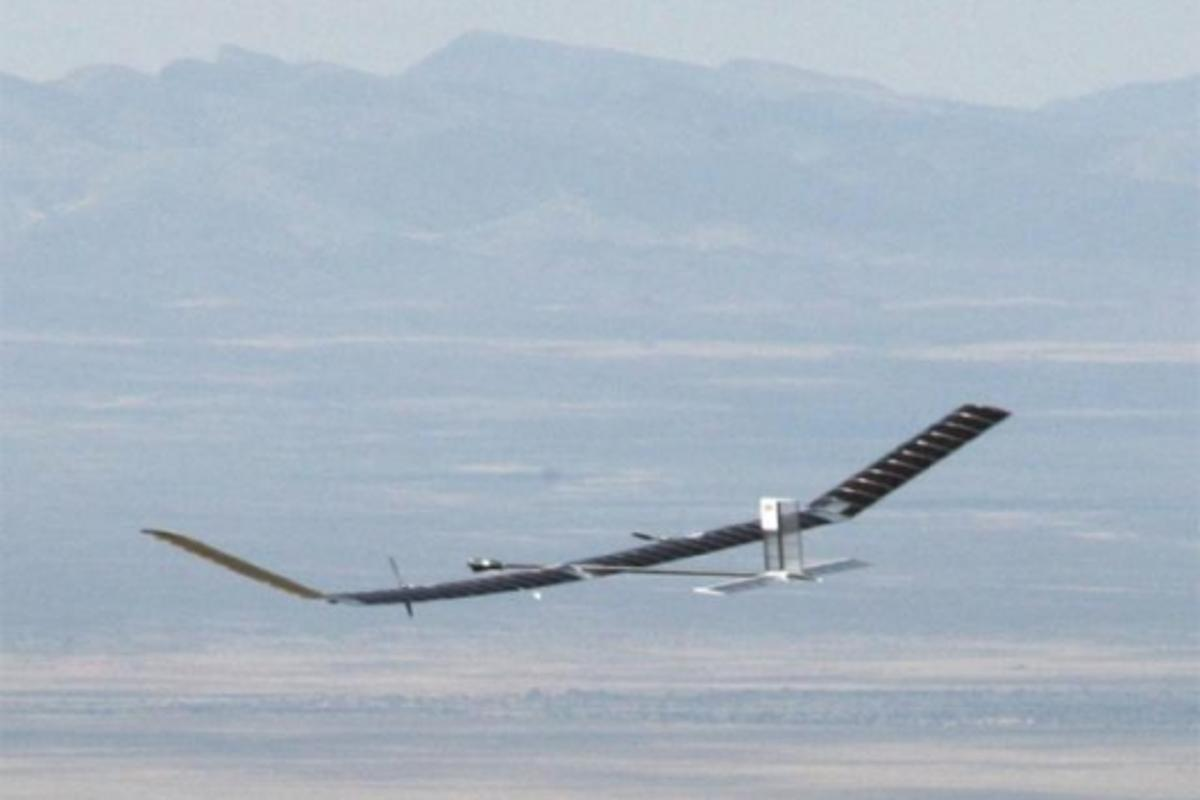 QinetiQ's Zephyr UAV on its way to smashing the world record flight duration for an unmanned aircraft.